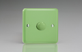 Varilight Pastel 1-Gang 2-Way Push-On/Off Rotary Dimmer 1 x 40-400W in Standard plate Beryl Green -